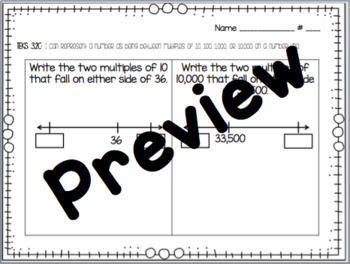 Grade 3 Math Exit Tickets - TEKS 3.2