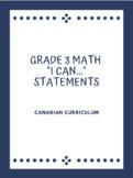 Grade 3 Math | Curriculum Learning Goals