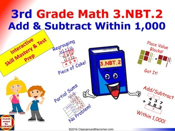 Grade 3 Math Interactive - Adding and Subtracting Within 1,000 for 3.NBT.2