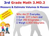 Grade 3 Math Interactive – Measure and Estimate Volumes an