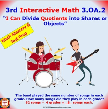Grade 3 Math Interactive Test Prep – DIVIDING OBJECTS AND