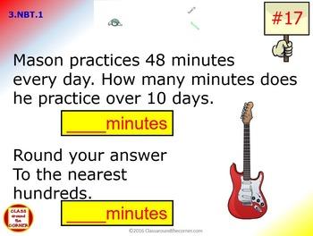Grade 3 Math Interactive Test Prep – Rounding to the Nearest 10 or 100  3.NBT.1