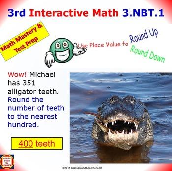 Grade 3 Math Interactive Test Prep – Rounding to the Neare