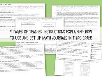 Grade 3 Math Journals for Math Workshop