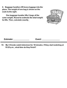 Grade 3 Math Module 2 End of Module Assessment