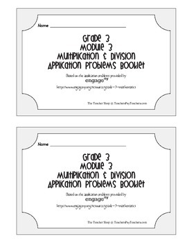 Grade 3 Math Module 3 Application Problems Booklet