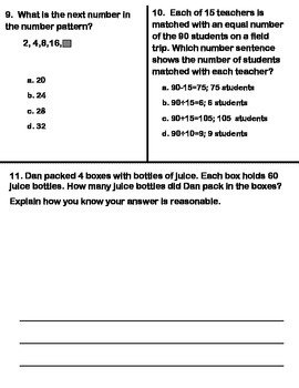 Grade 3 Math Module 3 End of Module Assessment