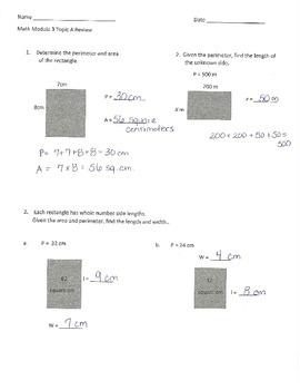 Grade 4 Math Module 3 Topic A Review Sheet