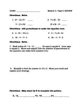 Grade 3 Math Module 3 Topic C Review