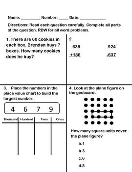 Grade 3 Math Module 4 Mid Module Assessment