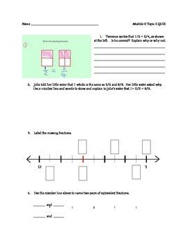 Grade 3 Math Module 5 Topic E QUIZ