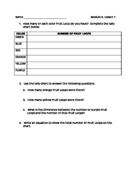 Grade 3 Math Module 6 Lesson 1 Fruit Loops Activity