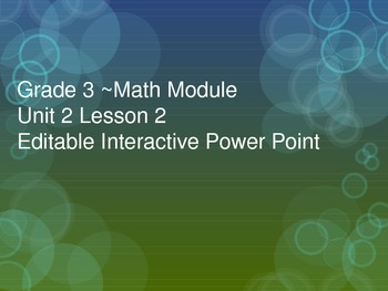 Grade 3 Math Module 2 Topic A Lesson 2