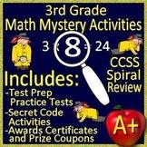 3rd Grade Math Mystery Activities: 6 Mystery Workshops 3rd Grade Math Test Prep