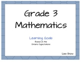 Grade 3 Math Ontario Learning Goals