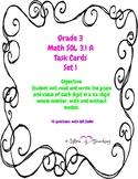 Grade 3 Math Place Value QR task cards SOL 3.1A Set 1