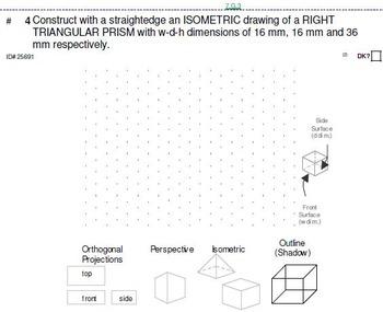 Grade 7 UNIT: Isometric+ (Metric Measurement) Drawings (4 worksheets;7 quizzes)