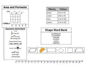 Grade 3 Math Reference Sheet