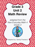 Grade 3 Math Review Bundle Adapted from Unit 2 New Everyday Math 4