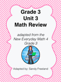Grade 3 Math Review Bundle Adapted from Unit 3 New Everyda
