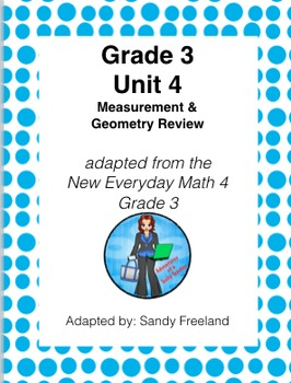 Grade 3 Math Review Bundle Adapted from Unit 4 New Everyday Math 4