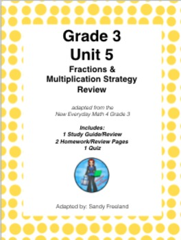 Grade 3 Math Review Bundle Adapted from Unit 5 New Everyday Math 4
