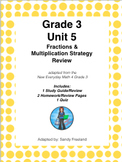 Grade 3 Math Review Bundle Adapted from Unit 5 New Everyda
