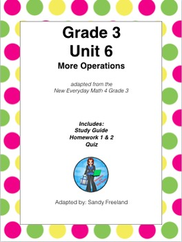Grade 3 Math Review Bundle Adapted from Unit 6 New Everyday Math 4