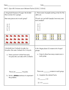 Grade 3 Math Review Quizzes