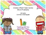 3rd Grade Math Word Problem Task Cards (Grade 3 Review) (Test Prep)