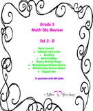 Grade 3 Math SOL task cards Set 2 bundle with QR codes