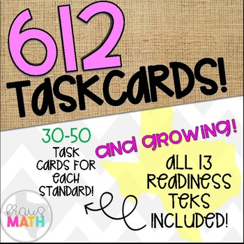 Grade 3 Math STAAR Test Prep Task Cards- ALL READINESS STANDARDS BUNDLE!