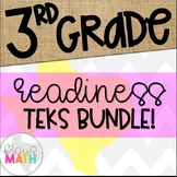 Grade 3 Math STAAR Test Prep Task Cards- ALL READINESS TEK
