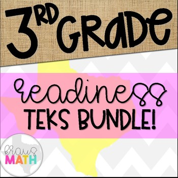 Grade 3 Math STAAR Test-Prep Task Cards- ALL READINESS STA