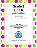 Grade 3 Math Supplemental Pages ONLY Adapted from Unit 6 N