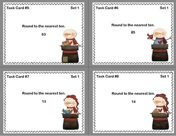 Grade 3- Math Task Cards-Rounding Whole Numbers to the Nearest 10 or 100