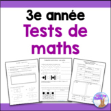 Grade 3 Math Tests Bundle (French)