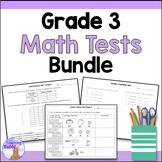 Grade 3 Math Tests Bundle
