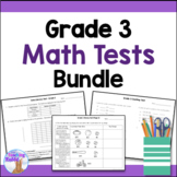 Grade 3 Math Tests Bundle