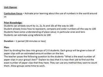 Grade 3 Math Unit: Numbers to 1000