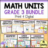 Grade 3 Math Units FULL YEAR BUNDLE (Ontario Curriculum)