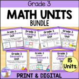 Grade 3 Math Units FULL YEAR BUNDLE (Based on the Ontario Curriculum)