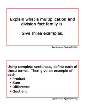 Grade 3 Math Writing Prompts