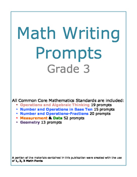 Grade 3 Math Writing Prompts