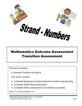 Grade 3 - Mathematics Transition Assessment