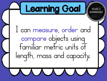 Grade 3 Maths - Measurement & Geometry Learning Goals & Success Criteria Posters