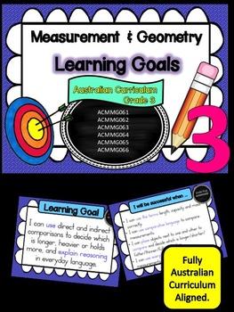 Grade 3 Maths - Measurement & Geometry Learning Goals & Su