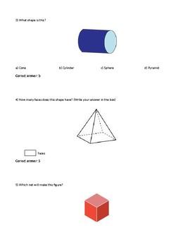 Grade 3 Maths Test