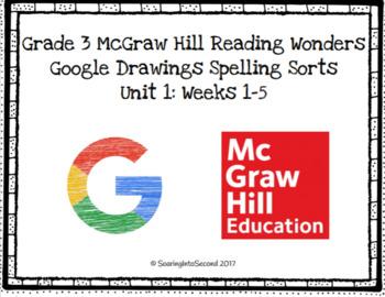 Grade 3 McGraw Hill Reading Wonders Digital Spelling Sorts: Unit 1