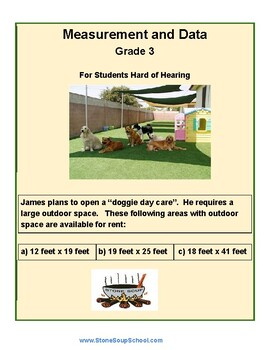 Grade 3 - Measurement & Data for Students Hard of Hearing